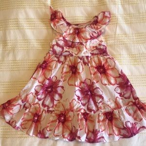 Girls Floral Print Dress